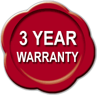3 year warranty logo