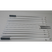 18.5 ft Bright Silver Outrigger Poles